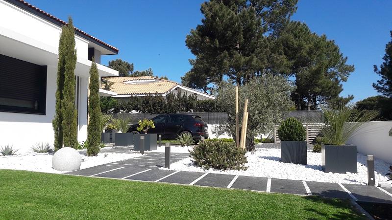 galets jardin gironde ... Création de jardin minéral Japonisant à Arcachon (33)